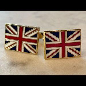 Union Jack cuff links.
